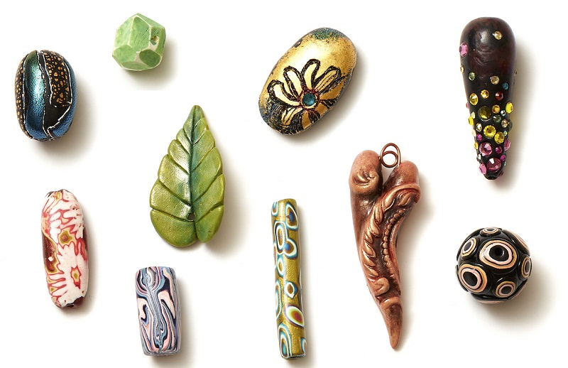 From Polymer Clay Jewelry: Learn 10 Beads and Charms