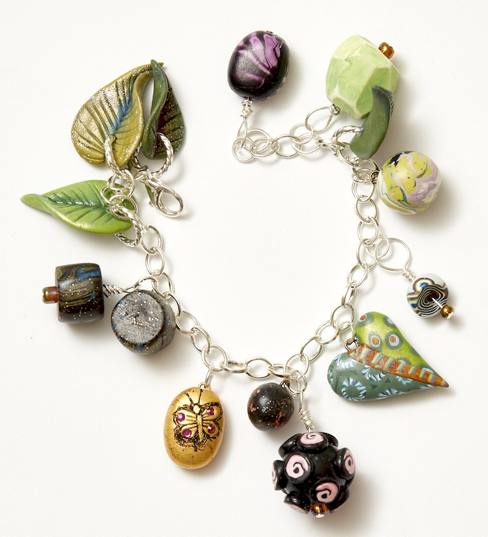 mixed media polymer clay by Christi Friesen