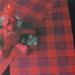 Handwoven holiday table runner by Deborah Dobbs