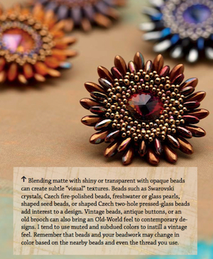 Chrysanthemum brooch and a few color variations
