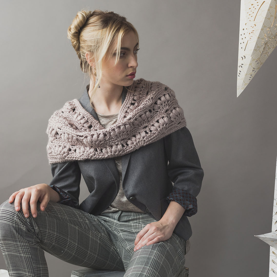 The Cinnamon Cowl from Interweave Crochet Winter 2019 CREDIT: Harper Point Photography
