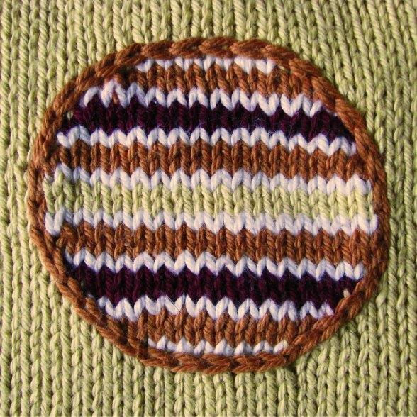 shaped intarsia