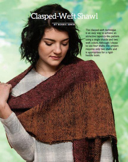 multicolor clasped weft shawl