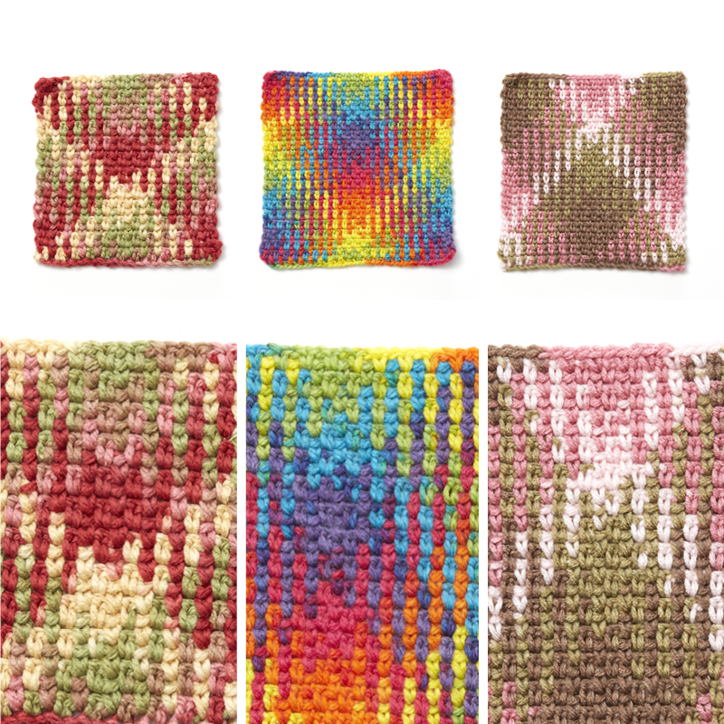 Color Pooling 60 Argyle Print Interweave Amazing Variegated Yarn Crochet Patterns
