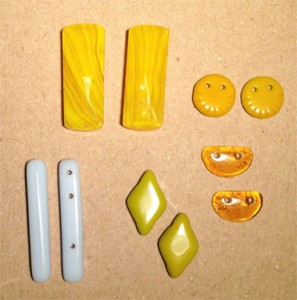 Vintage multi-hole bead shapes