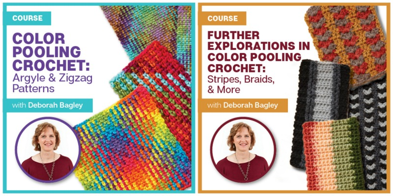 learn crochet and color pooling