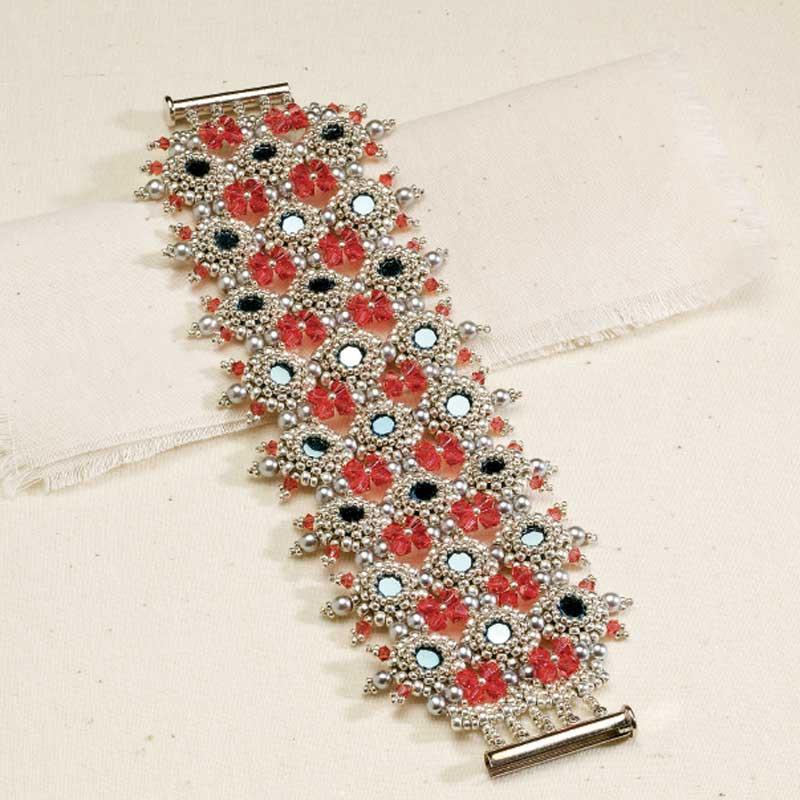 Handmade Crystal Jewelry, Confection Cuff by Csilla Csirmaz