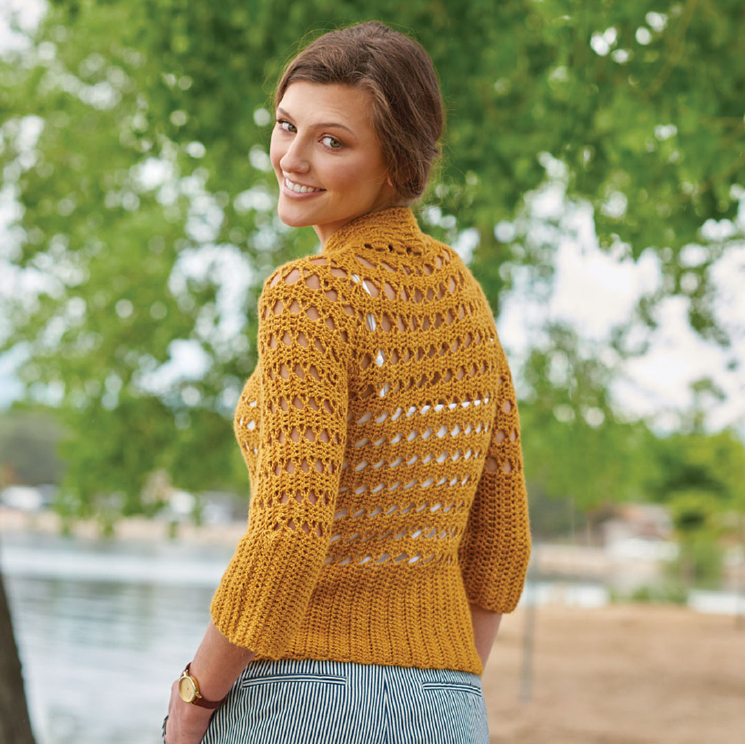 Explore accessories, shawls & wraps, and garments that use interesting construction techniques in Continuous Crochet.