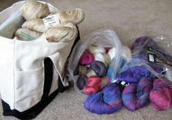 Karen's yarn stash from Convergence 2012