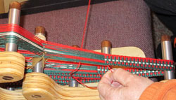 handwoven band on an inkle loom