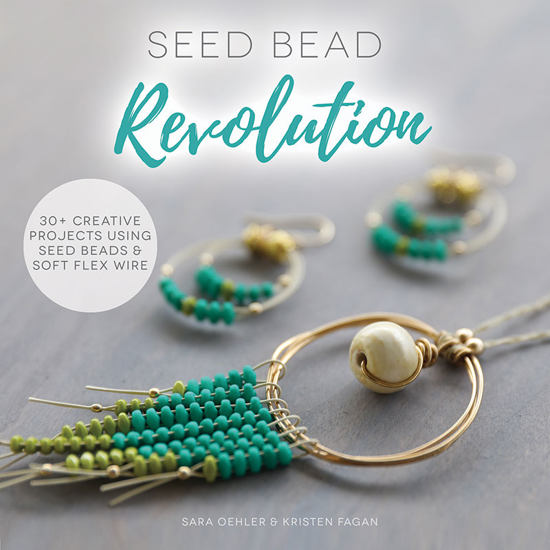 Seed Bead Revolution by Sara Oehler and Kristen Fagan is a new book featuring creative ways to use Soft Flex beading wire for a variety of jewelry projects incorporating some of the most popular shaped seed beads, including SuperDuos, SuperUnos, Tilas, and more.