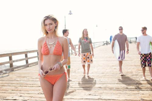 Coral Bikini on Boardwalk