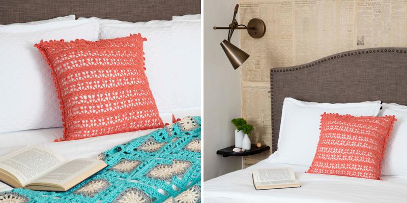 POW: Crochet Pillows + My Secret Tip for Cheap Pillow Forms