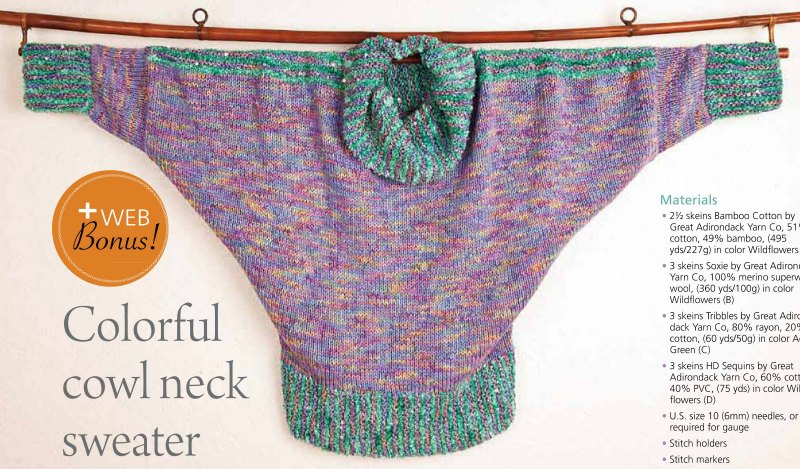 Colorful Cowl Neck