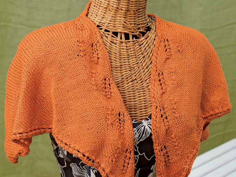 Creamsicle Shawlette Free Knitting Pattern Interweave