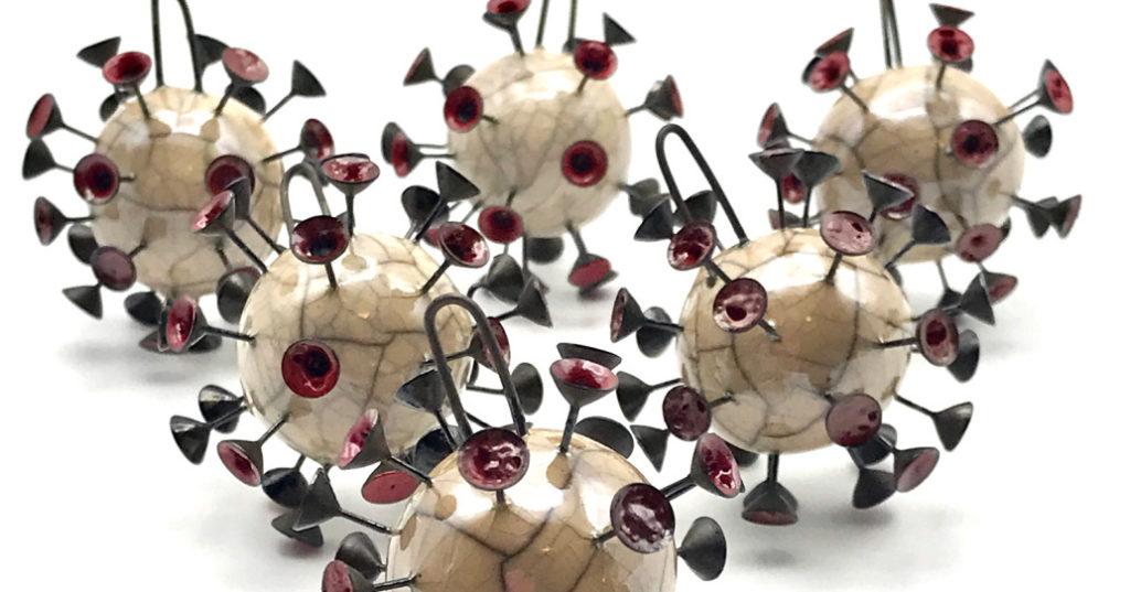 MAKUstudio Coronavirus pendants by Mak Kasparian