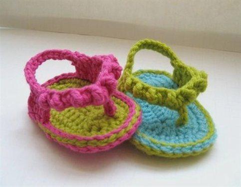 Crochet Pattern Baby Flip Flops Interweave