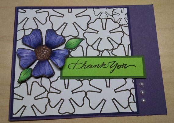 Crochet coloring page as greeting card