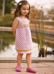 The Seashell and Posies Dress is one of the 5 free crochet patterns for kids found in Interweave's free eBook.