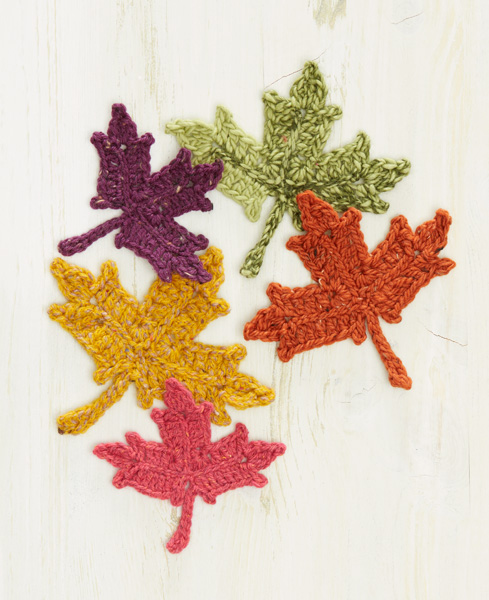 Crochet Maple Leaves