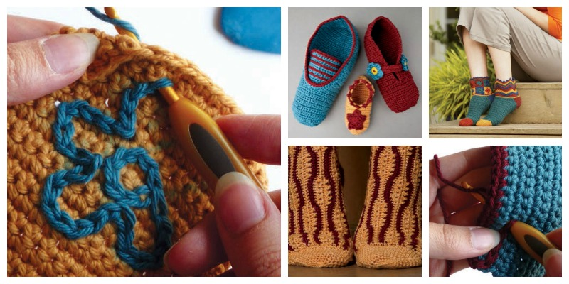 Free Patterns for Crochet Slippers and Socks to Make Your Feet Happy!