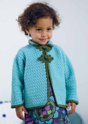 The Stella Jacket by Heather Lodinsky has an Asian flair to it and can be found in our free Crochet Patterns for Kids eBook.