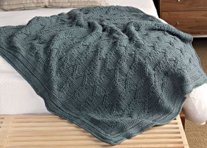 Croises Cable Afghan by Annie Modesitt | CrochetMe.com
