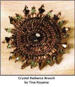 Crystal Radiance Brooch by Tina Koyama