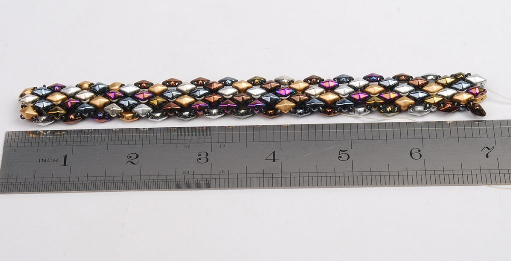 DiamonDuo Bracelet, bead weaving instructions, Step 7