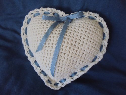 Rose Scented Heart Pillow Interweave