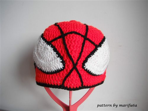 How To Crochet Spider Man Hat All Sizes Free Pattern Tutorial