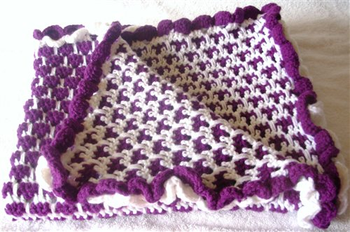 Purple Dream Baby Blanket Interweave