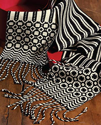 Deflected Doubleweave Scarves