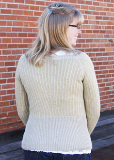 Knitting Gallery - Dainty Pinstripes Pullover