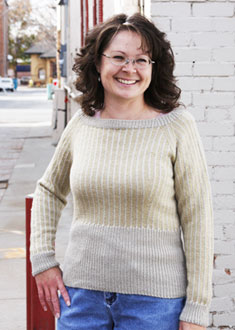 Knitting Gallery - Dainty Pinstripes Pullover Debbie