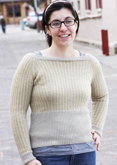 Knitting Gallery - Dainty Pinstripes Pullover Stefanie