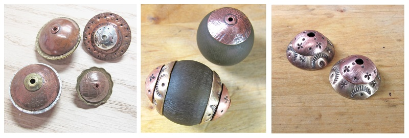 Dapped, Capped, and Riveted Metal Beads by Kate Richbourg