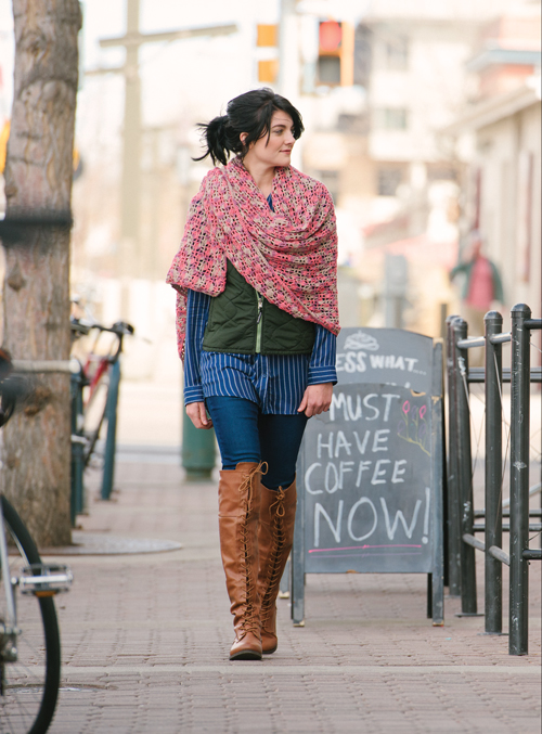 Dappled Shawl Crochet Pattern