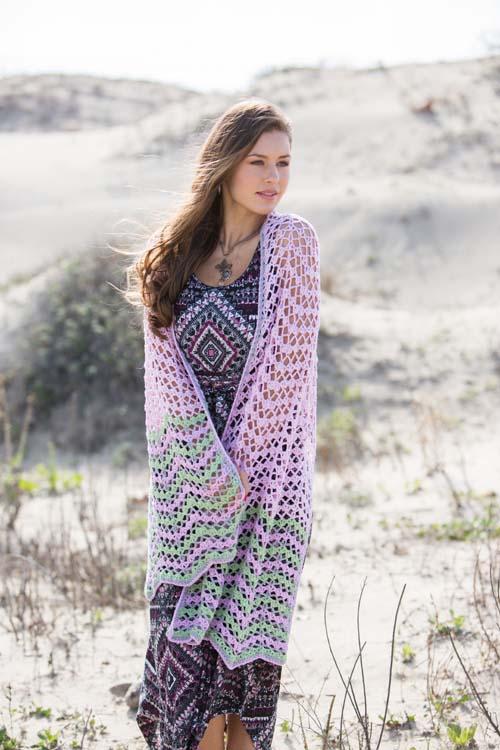 Dawn Waves Shawl Crochet Pattern
