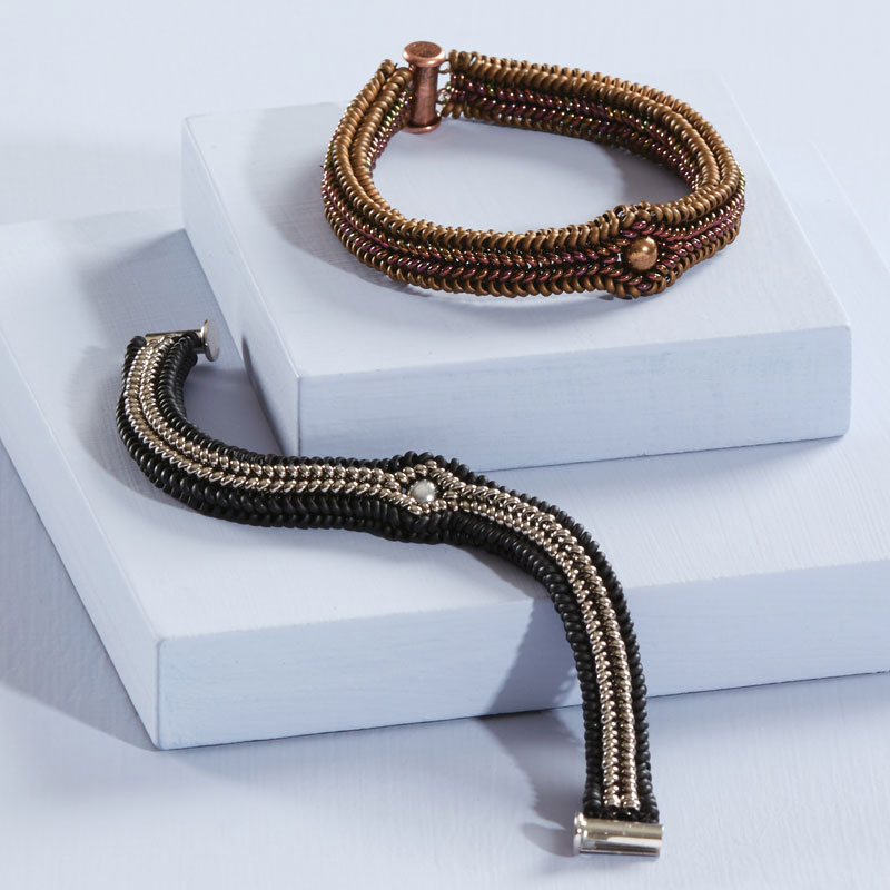 Demi Rounds beads, wanderlust bracelet by Nichole Starman
