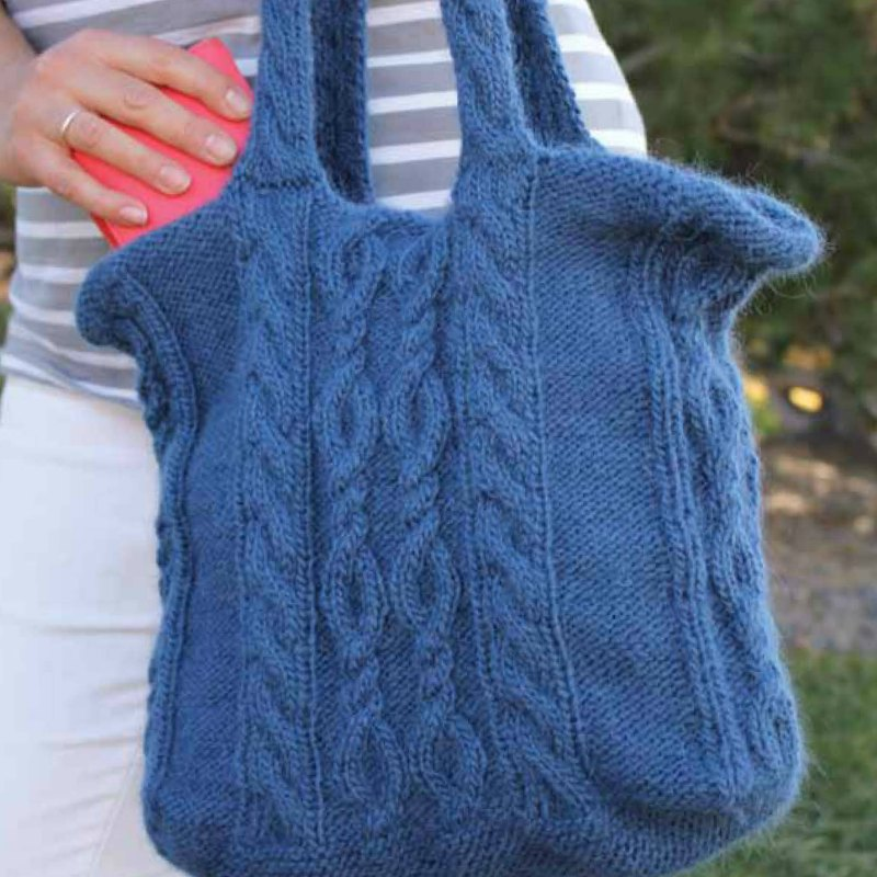 Denim Twist Tote