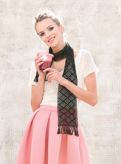 Diamond Filet Scarf Crochet Pattern