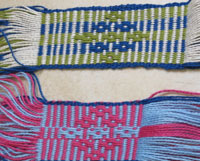 Bands handwoven on bqckstrap looms