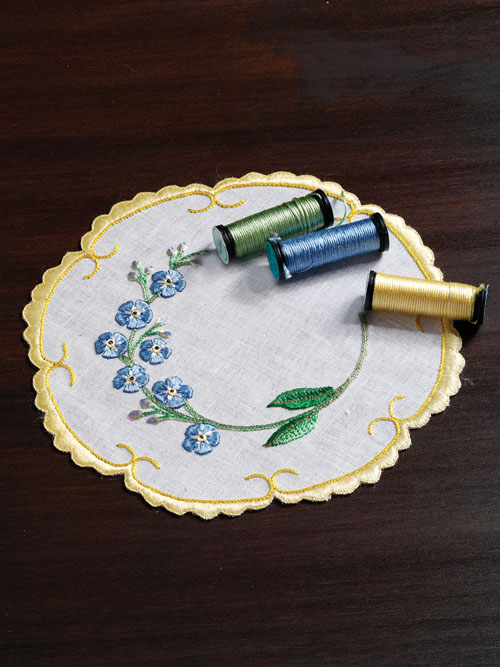 A Silk Art Doily to Embroider by Mary Polityka Bush