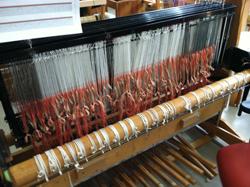 The loom sleyed