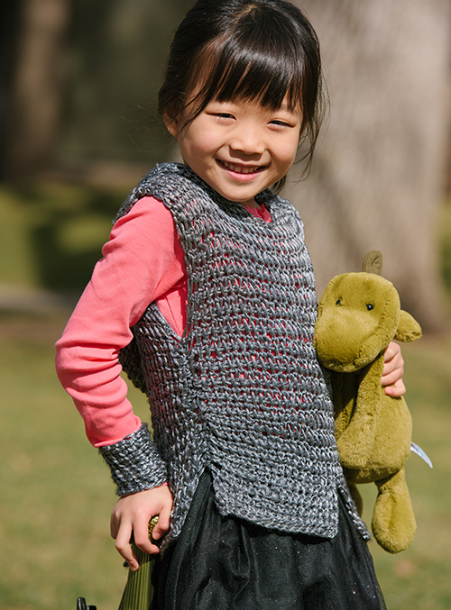 Chain mail looking Dragon Slayer Crochet Tunic