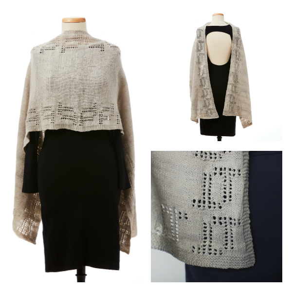 knitted stole