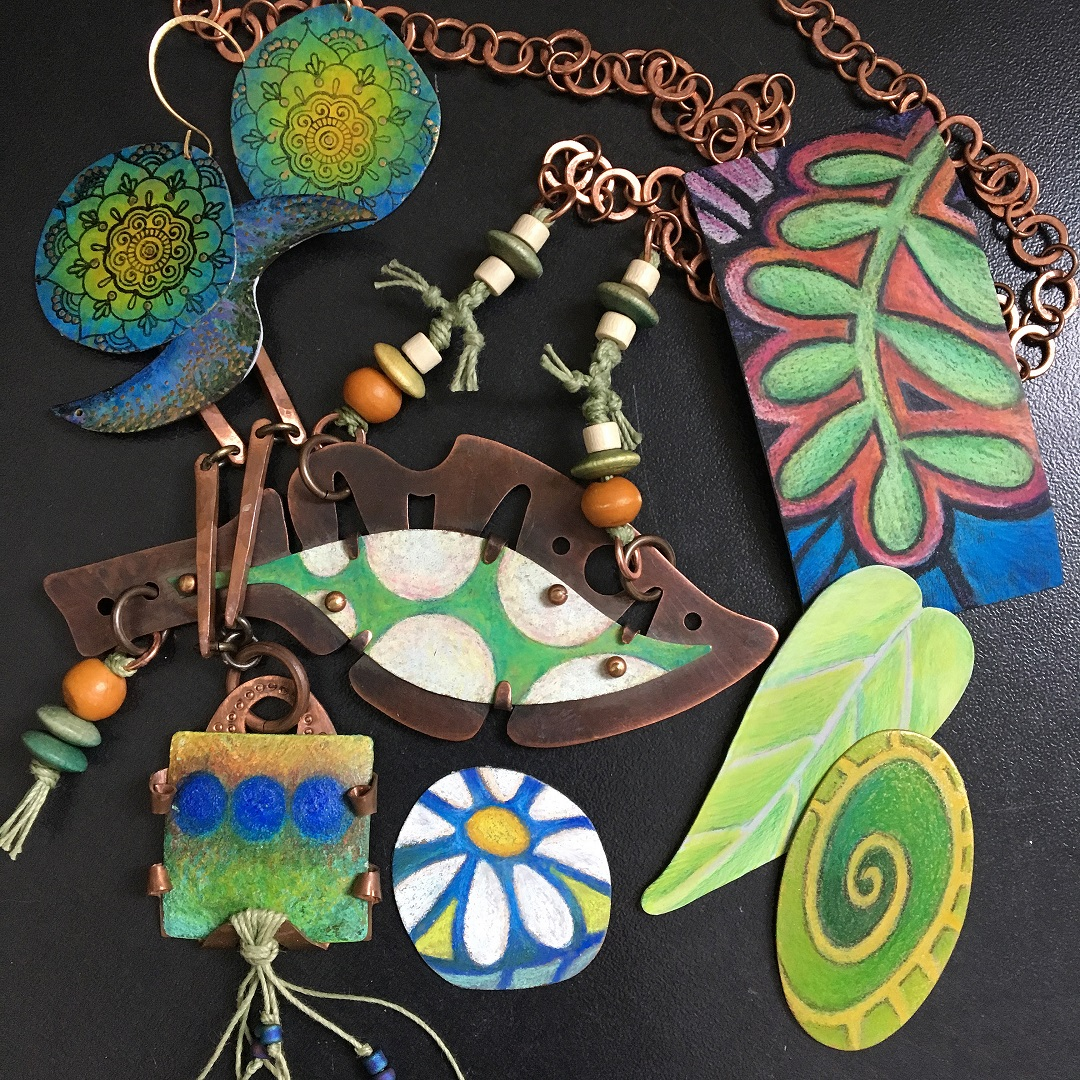 Helen Driggs metalsmithing classes Bead Fest coloring metal