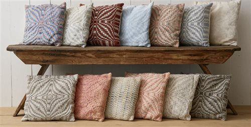 A weaving project like this is perfect for practicing different weaving techniques. Warp once and weave a whole variety of pillows in overshot, boundweave, lace, and more!