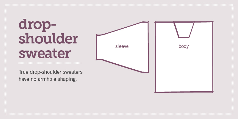 types of sweater armholes
